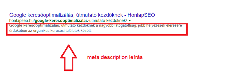 Meta description leírás