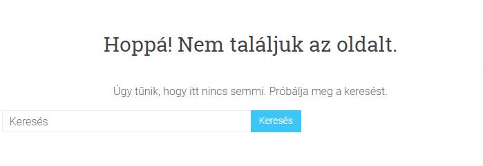 404 hiba - Az oldal nem található
